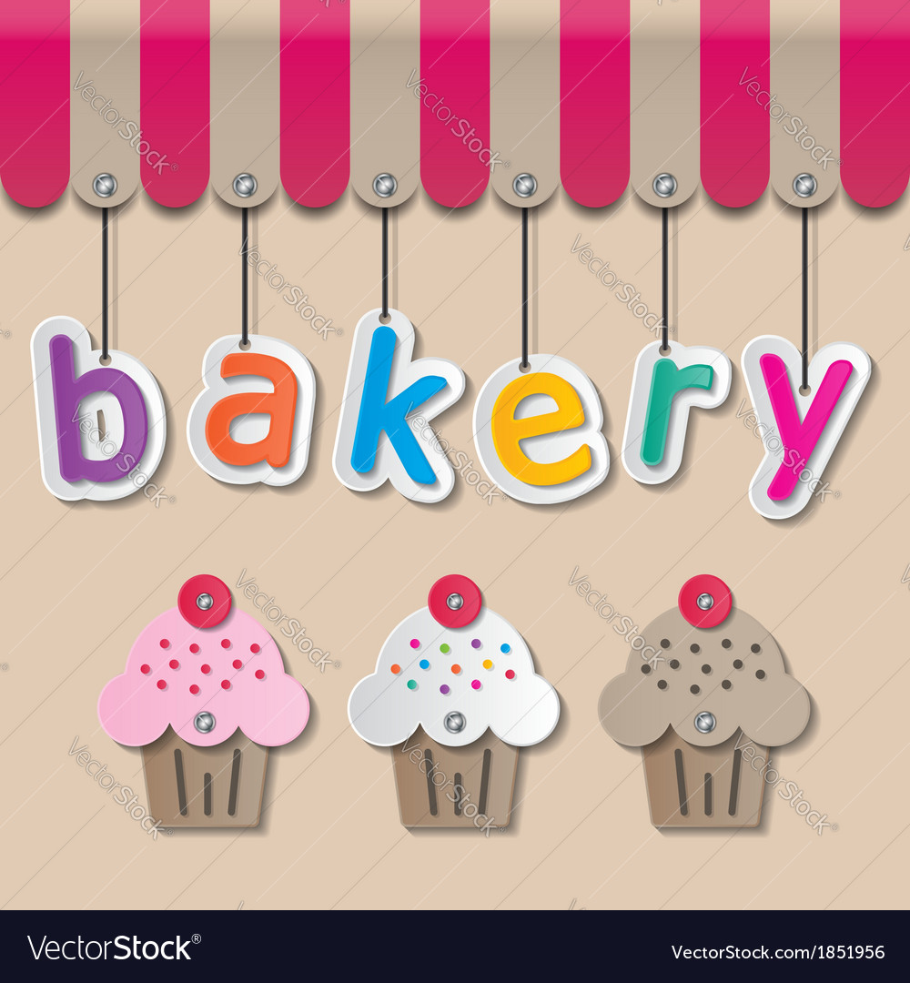 Bakery shopfront sign vector