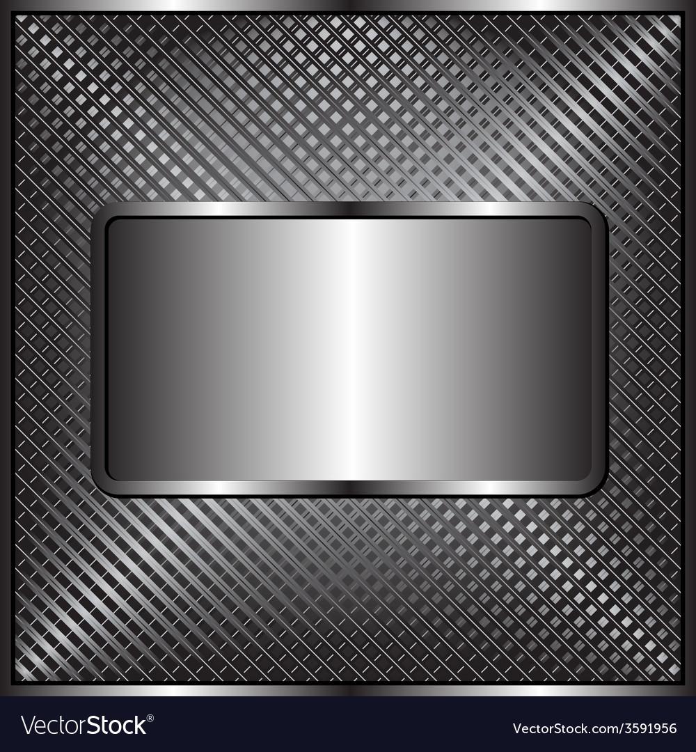 Metallic plaque vector