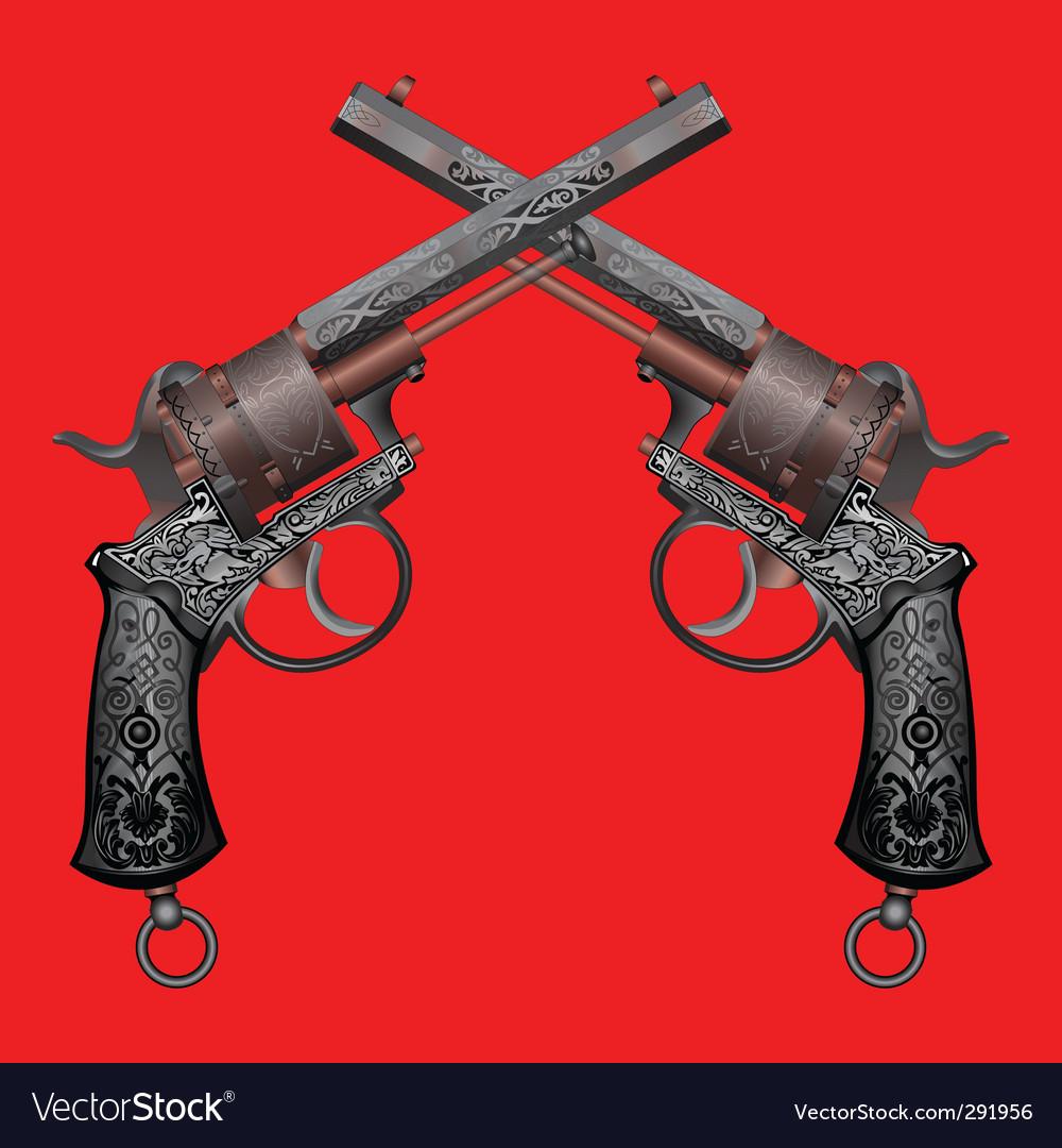 Old gun vector