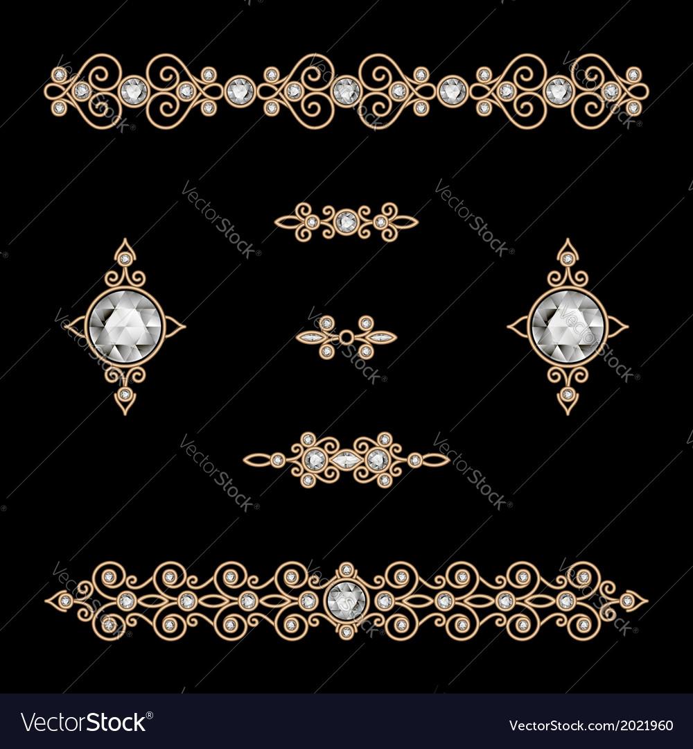 Jewelry decor vector