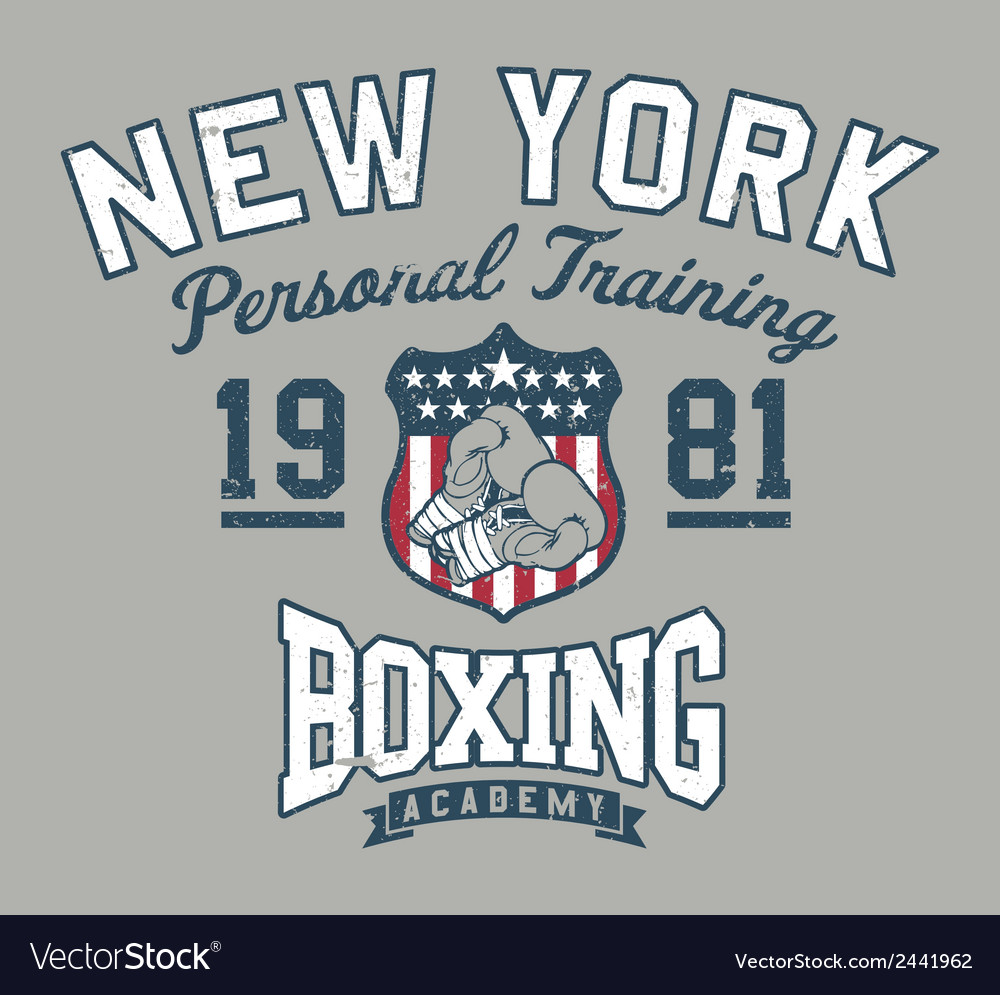 New york boxing academy vector