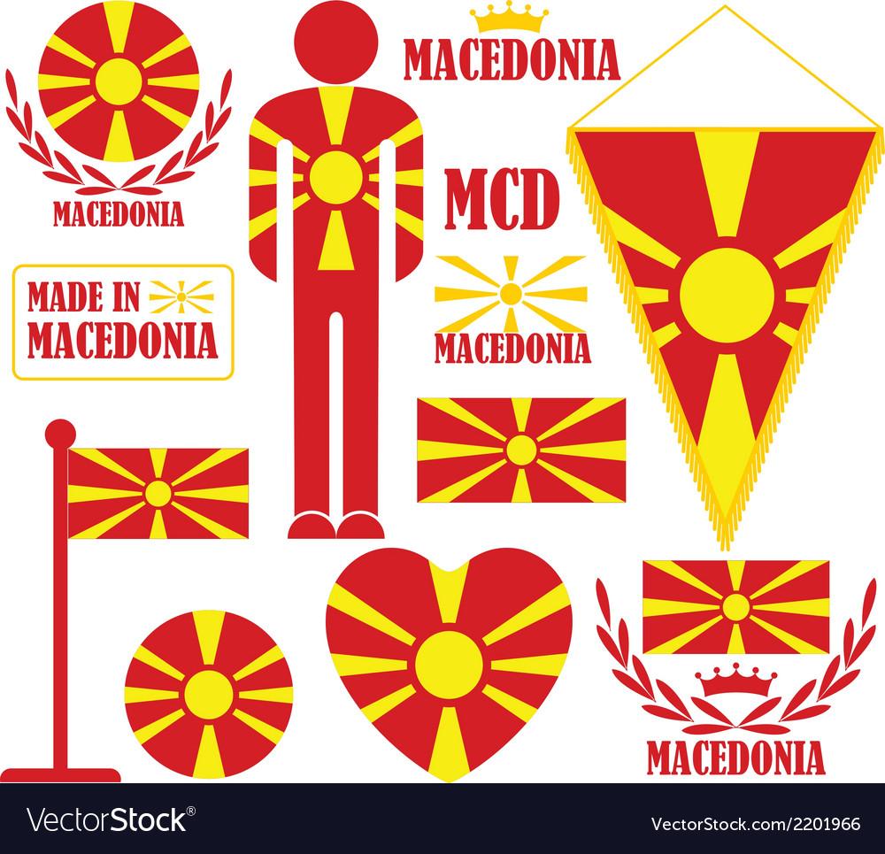Macedonia vector