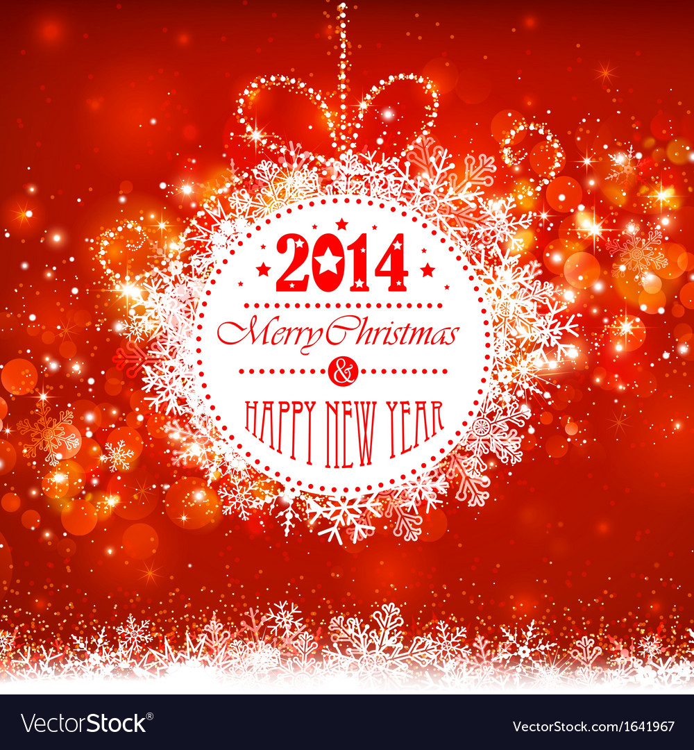 Christmas ball on a red background vector