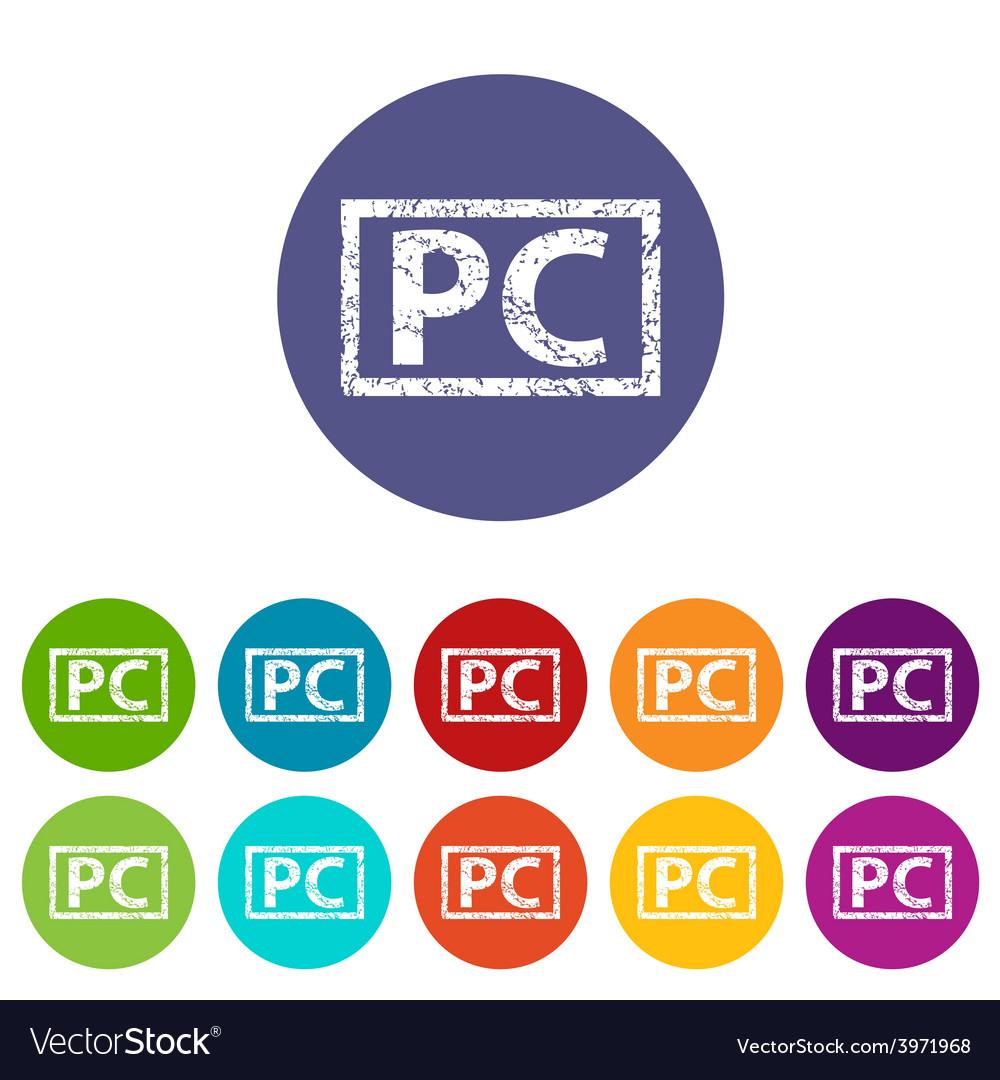 Pc flat icon vector