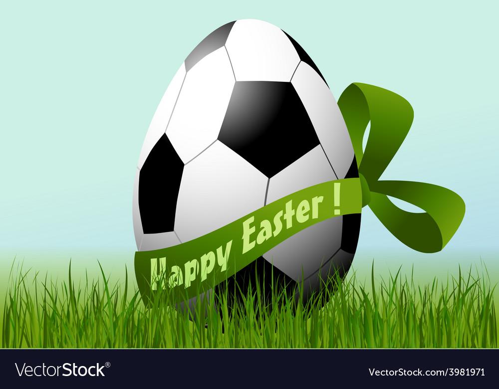 Football easter egg vector