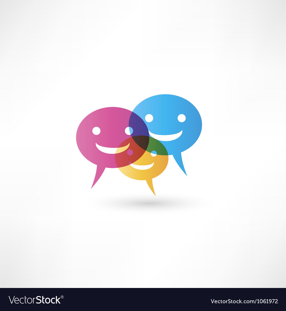 Abstract smile talking bubble vector