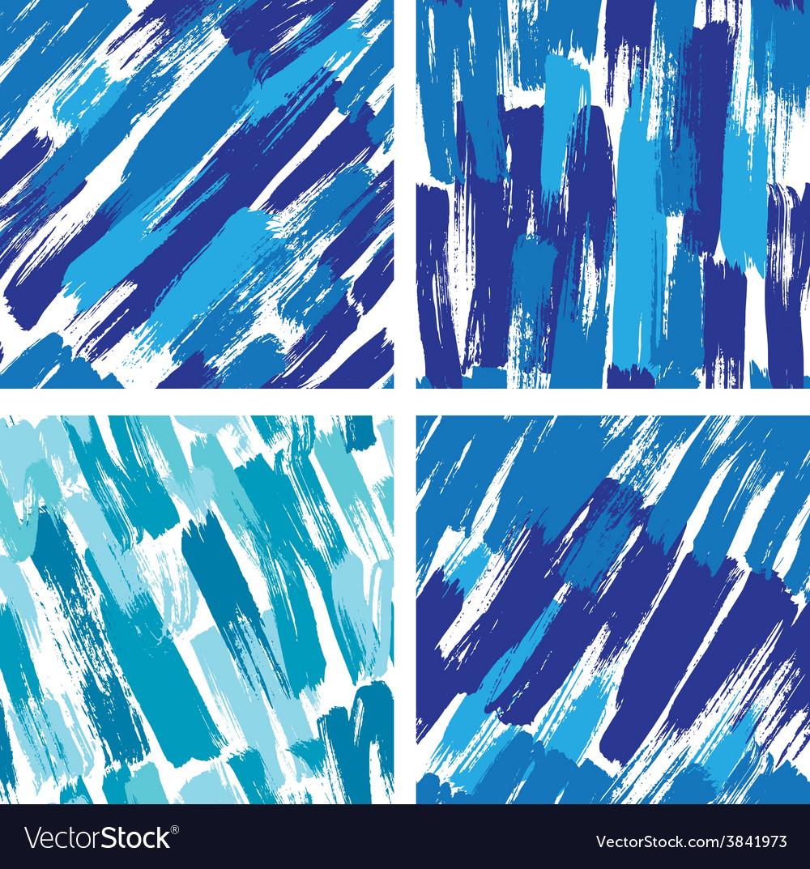 Paint stripes blue 380 vector
