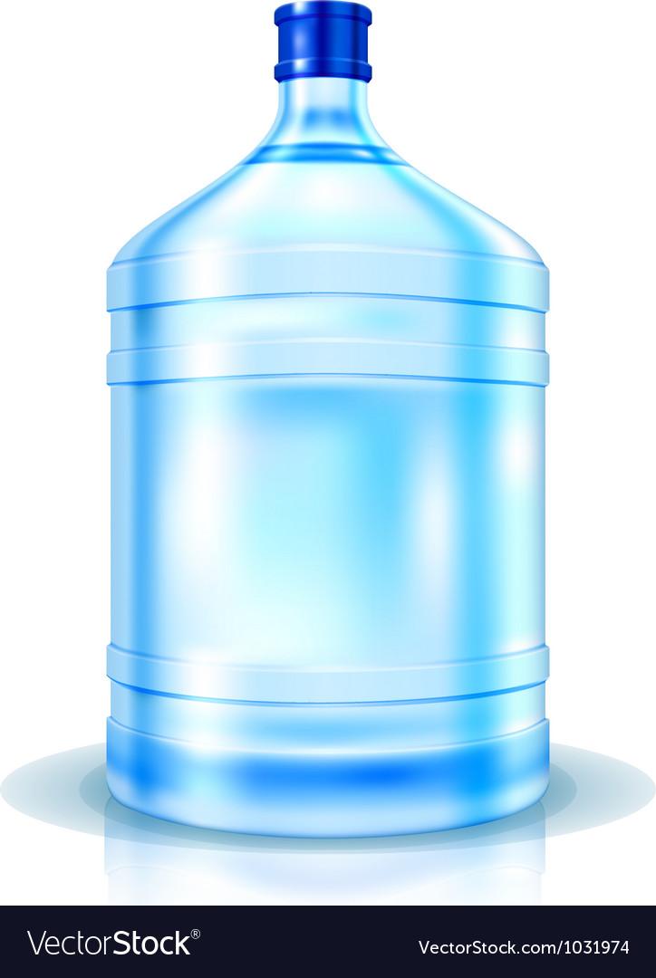 Big bottle of water vector
