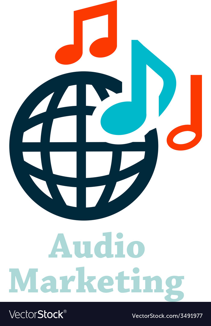 Audio marketing icon vector