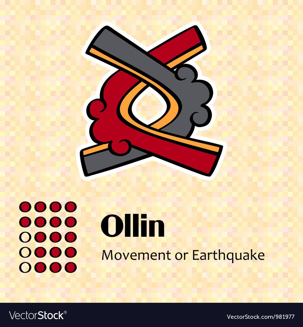Aztec symbol ollin vector