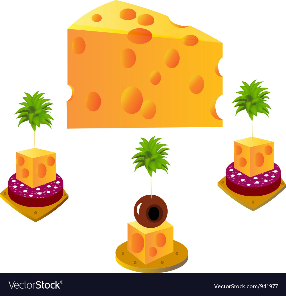 Cheese snack vector