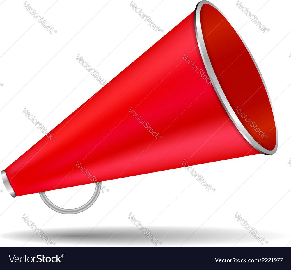 Red megaphone vector