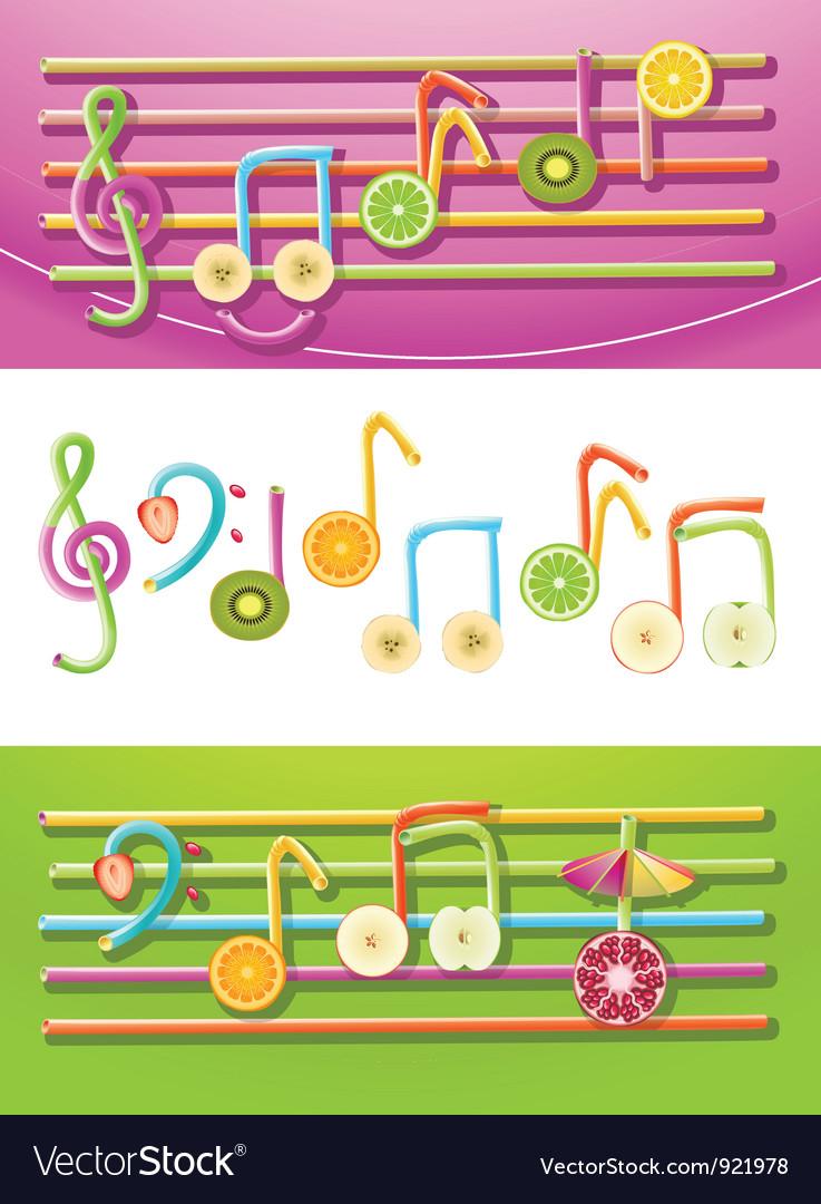 Fruit music vector