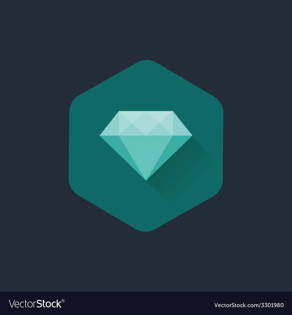 Diamond cuts flat icon vector