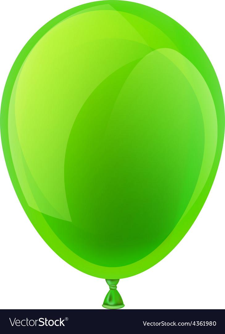 Green celebration balloon vector