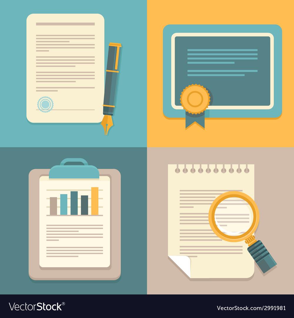 Business document set vector
