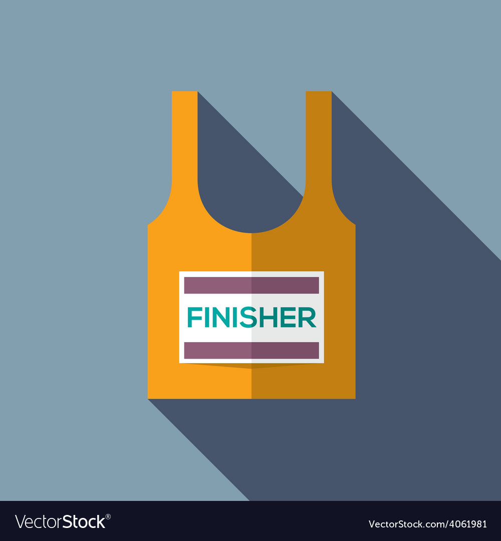 Finisher singlet of marathon runner vector
