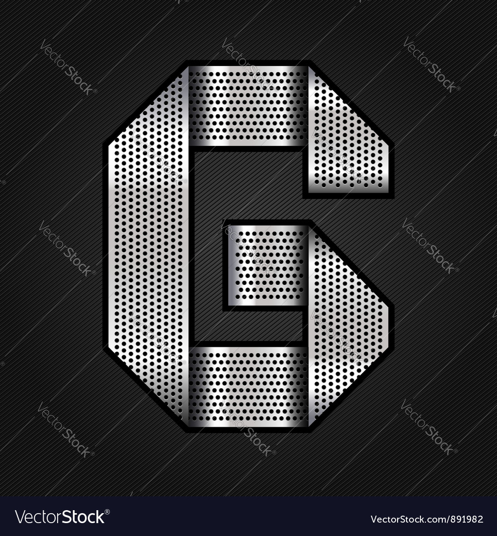 Letter metal chrome ribbon - g vector
