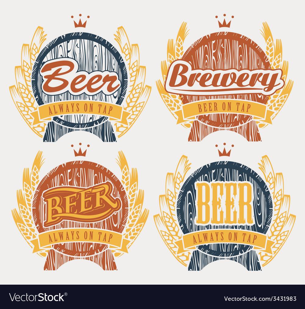 Beer on tap vector