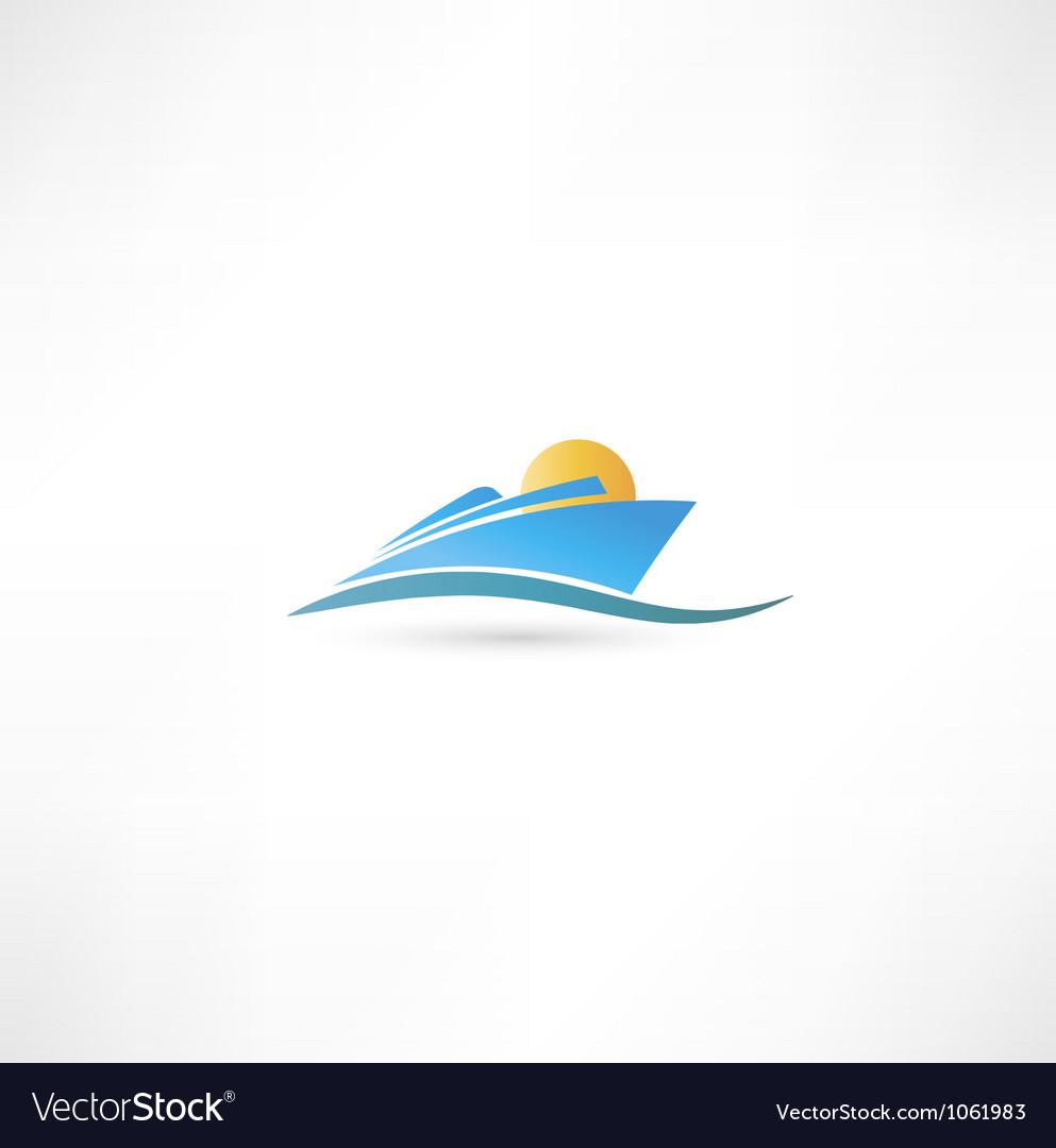 Sea liner vector