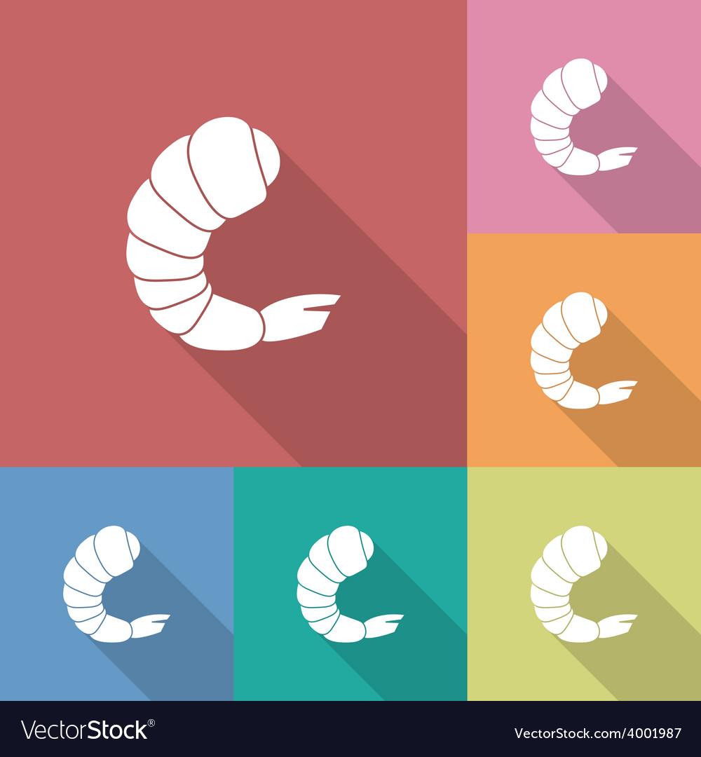 Icon of shrimp vector