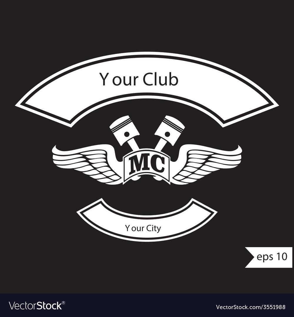 Vintage motorcycle club design elements vector