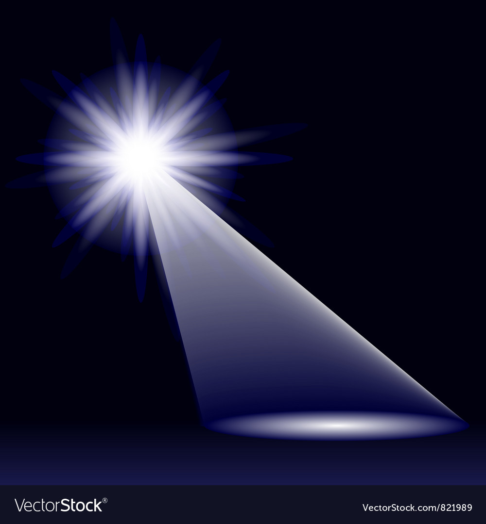 Abstract blue light vector