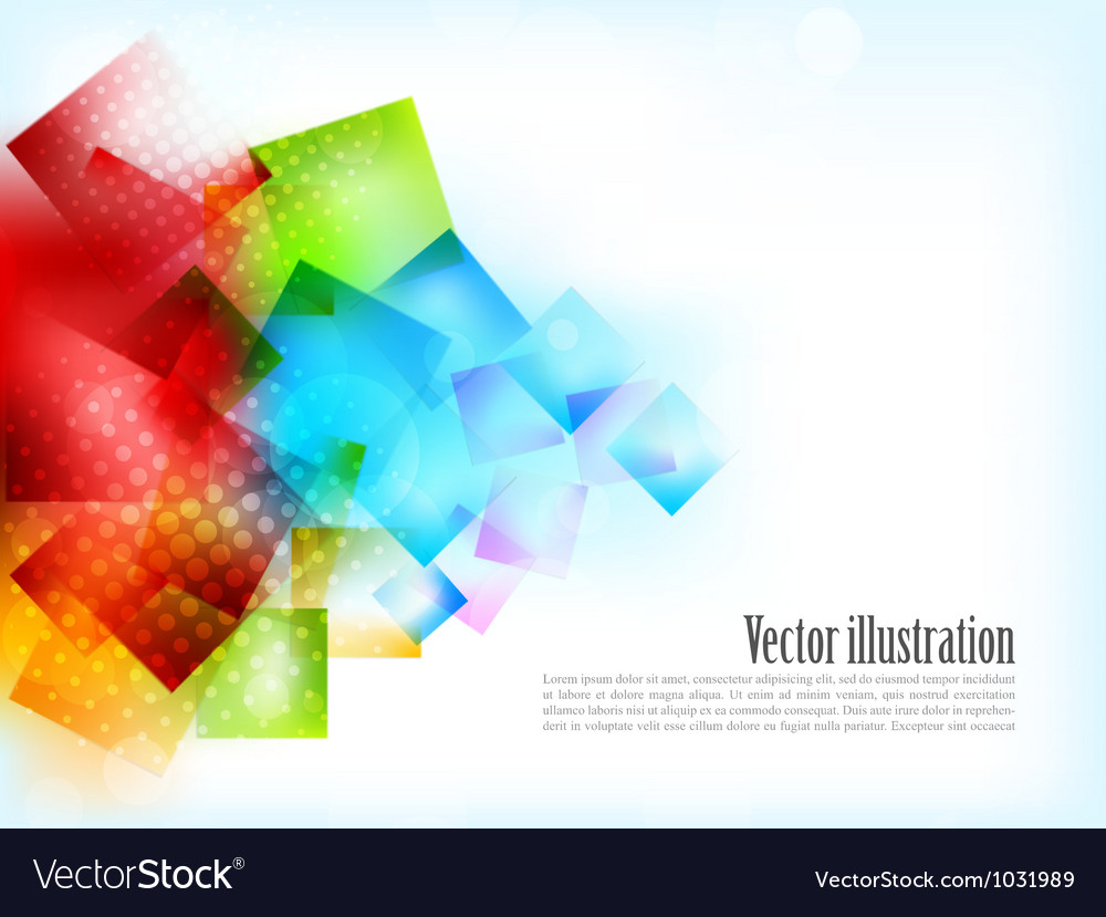 Abstract bright background with squares vector