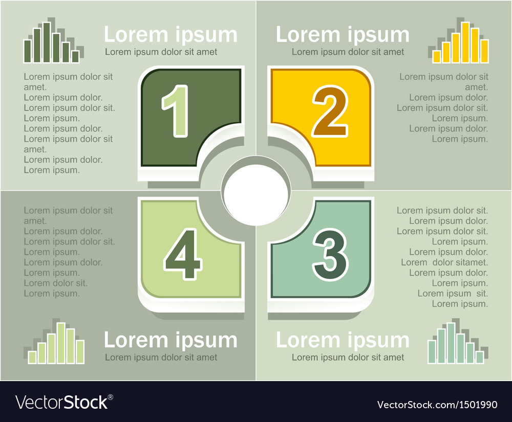 Infographics elements olive background vector