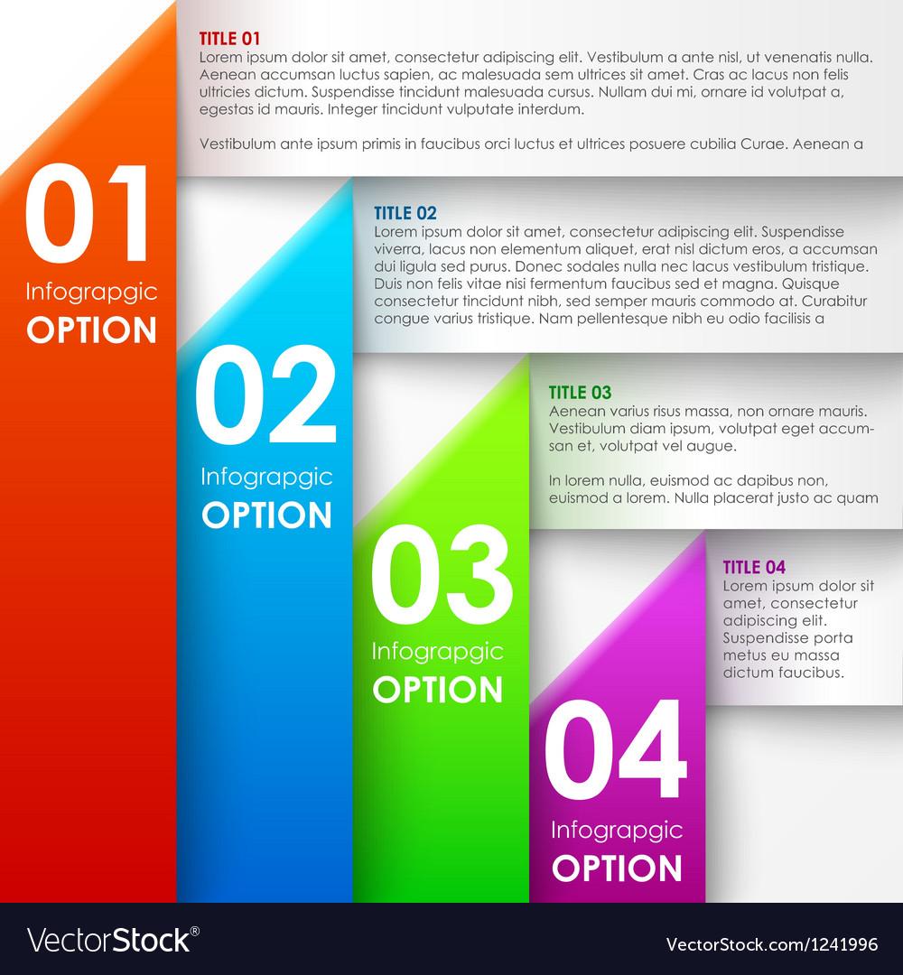 Paper infographics options banner vector