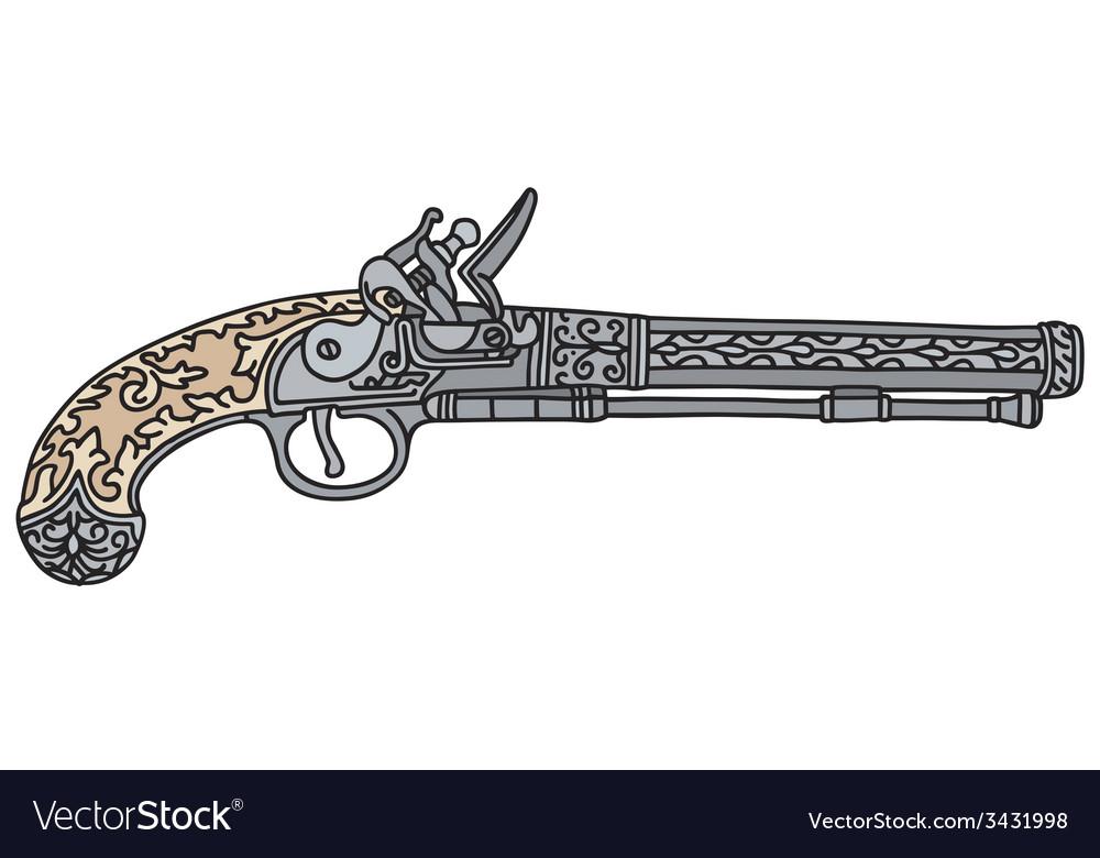 Historical pistol vector