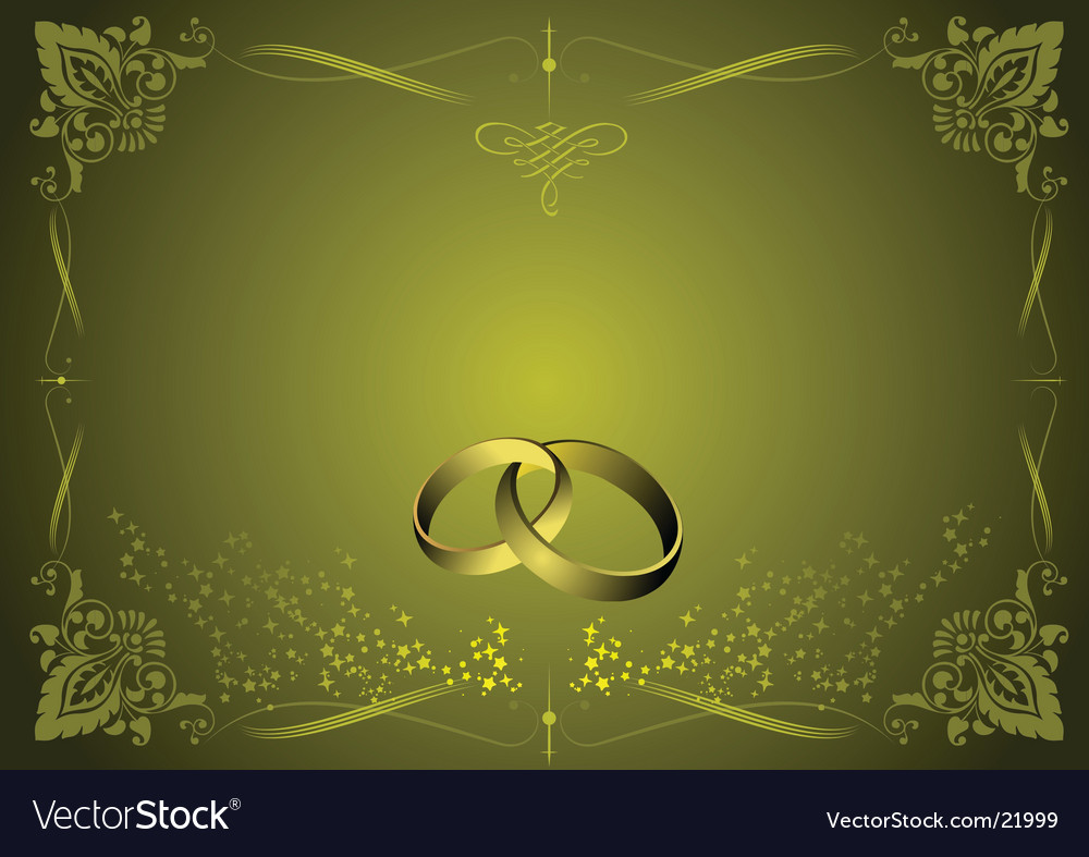Greeting wedding card vector