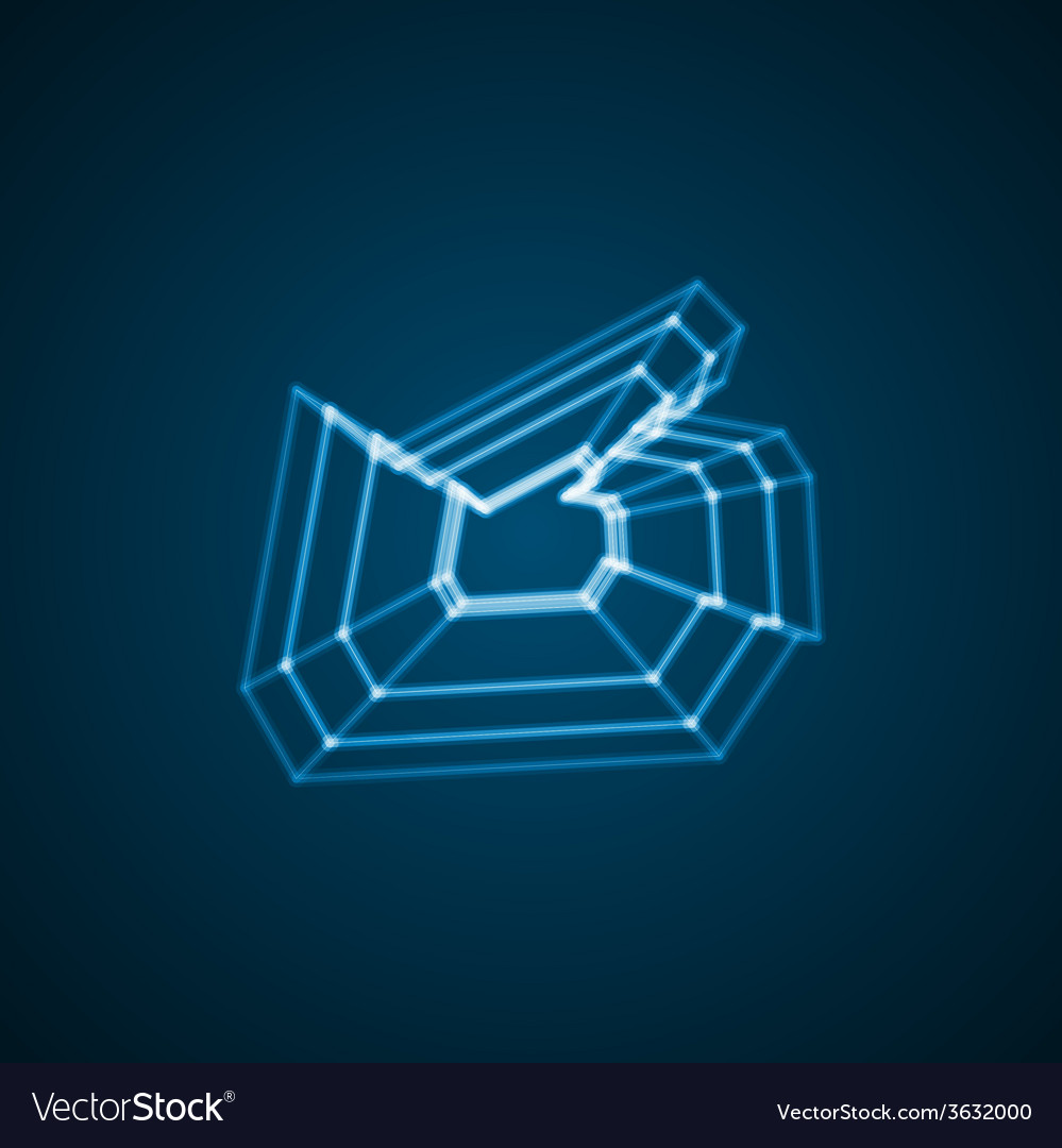 Abstract symbol of like vector