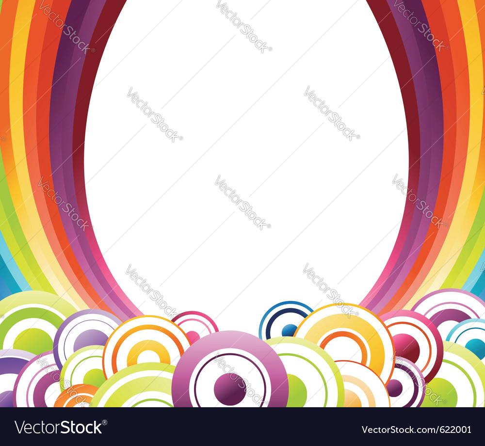 Rainbow card template vector