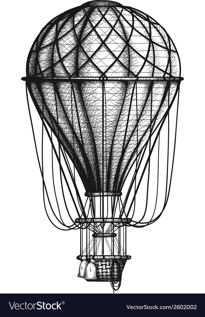 Old air ballon vector