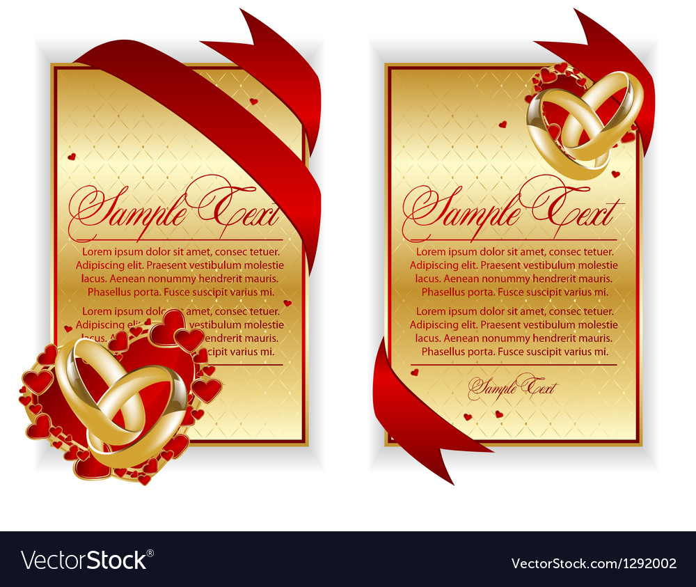 Set of banner with red hearts vector