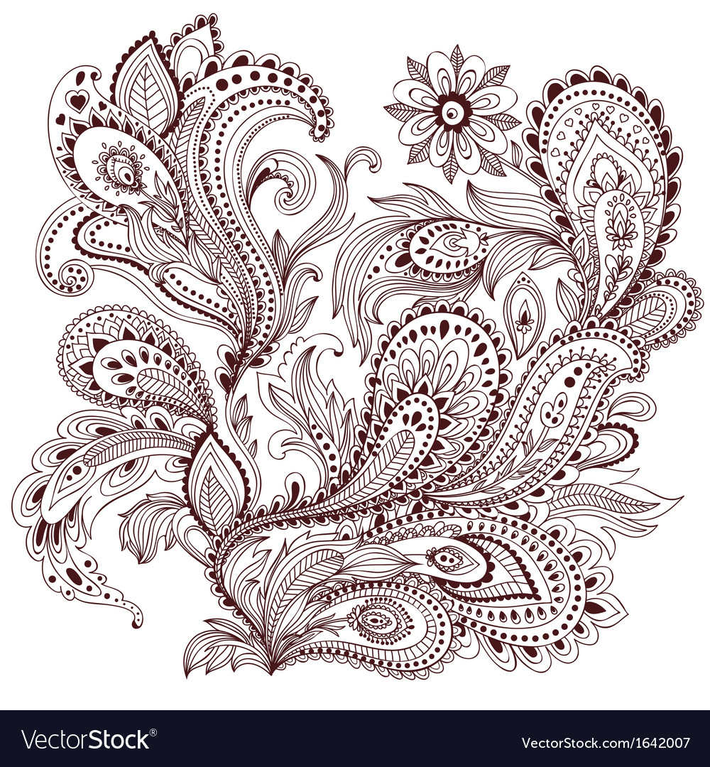 Beautiful vintage ornament vector