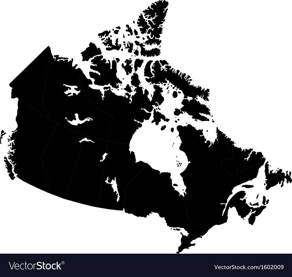 Black canada map vector