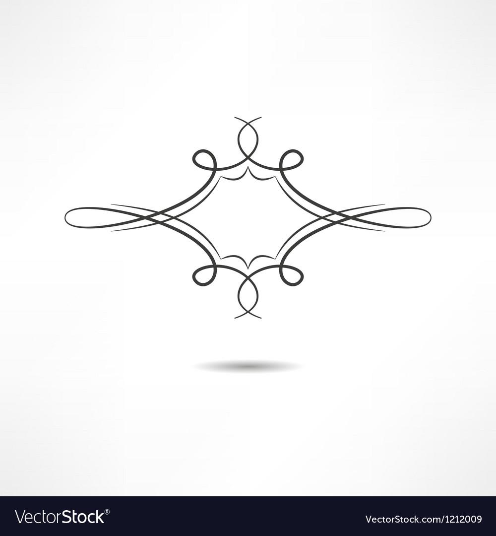 Calligraphic design element vector