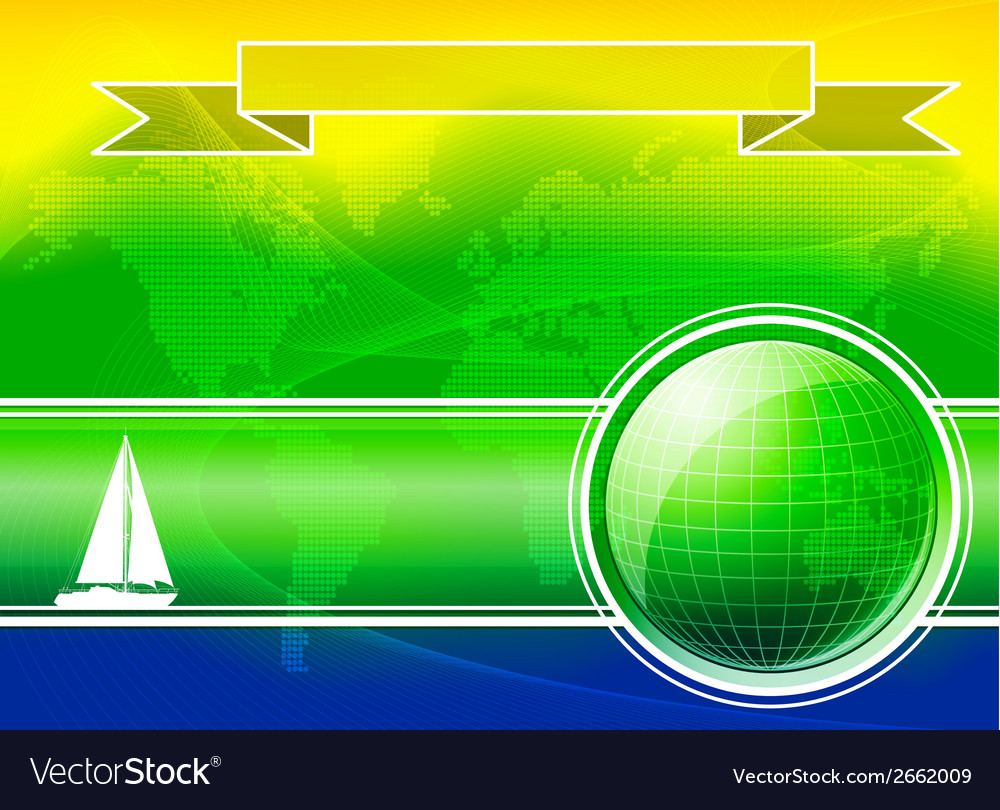Summer color background with yacht vector
