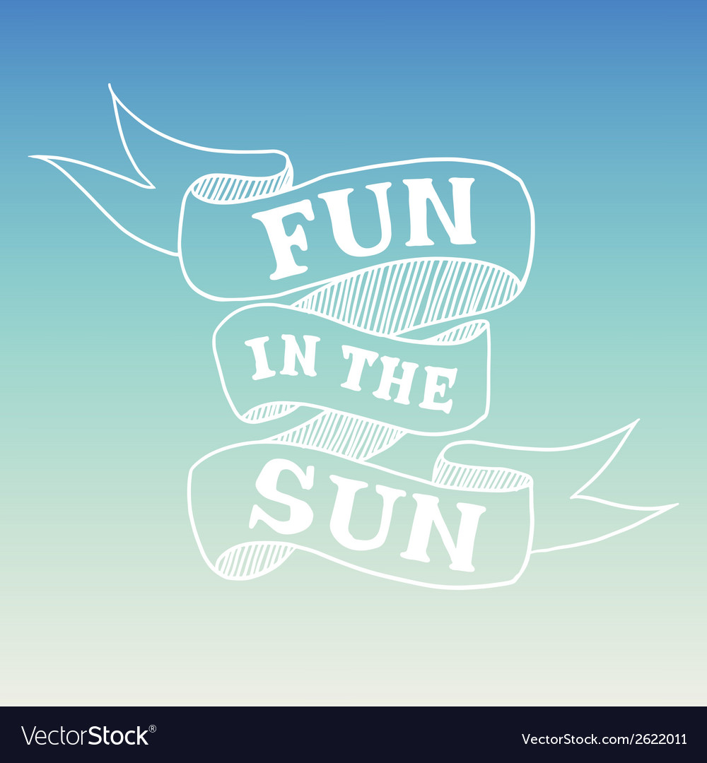 Hand drawn summer quote vector