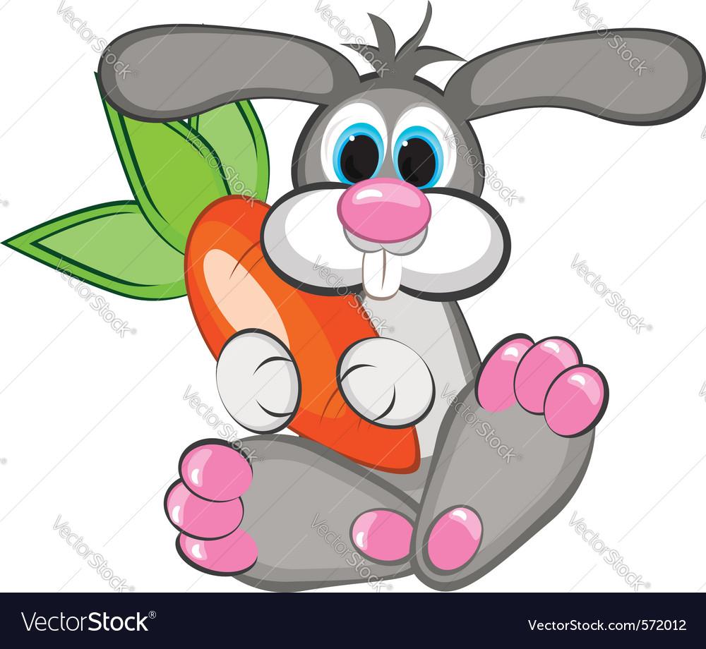Happy rabbit vector