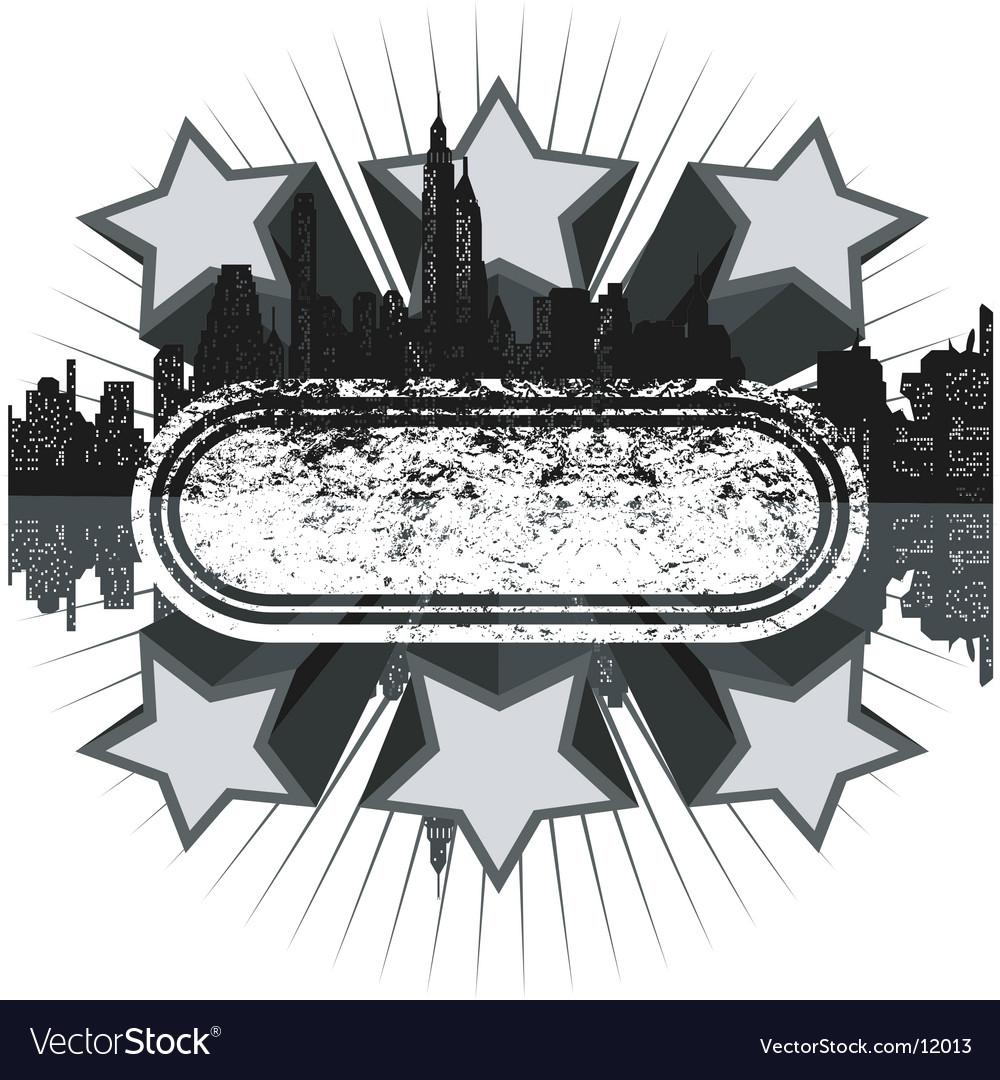 Grunge disco banner vector
