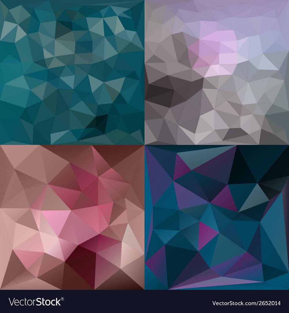Polygonal geometric backgrounds vector