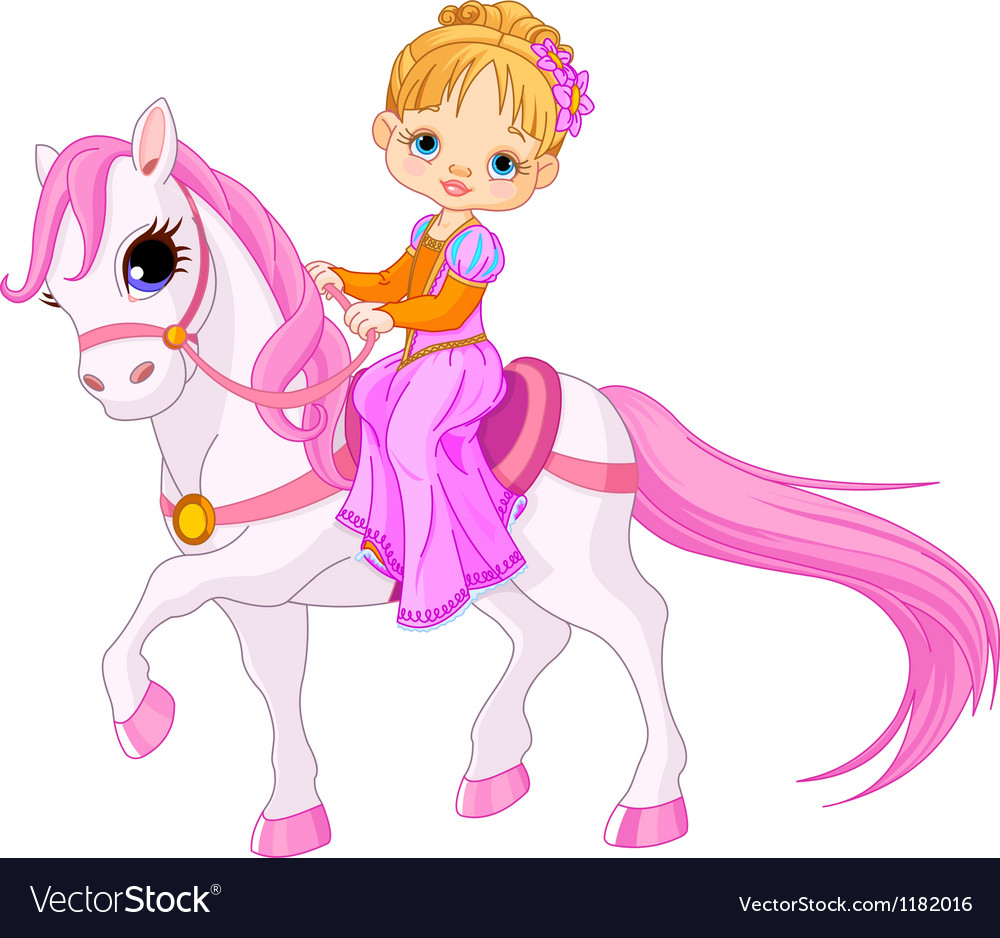 Lady on horse vector