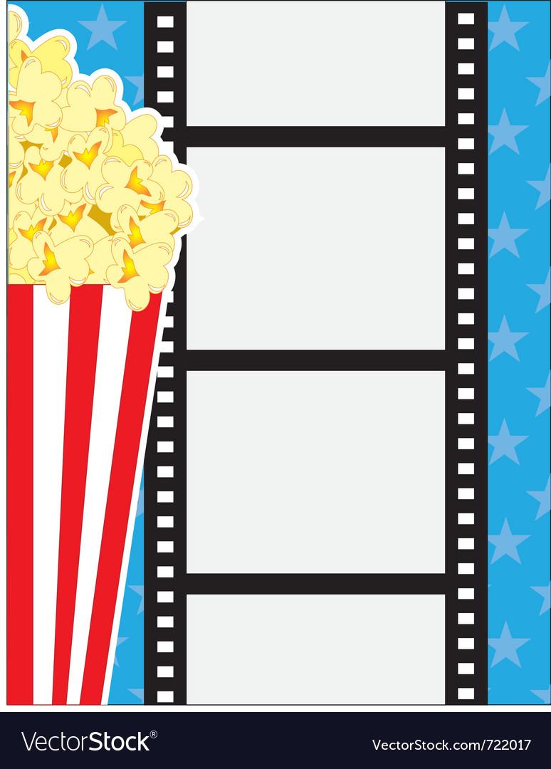 Film and popcorn vector