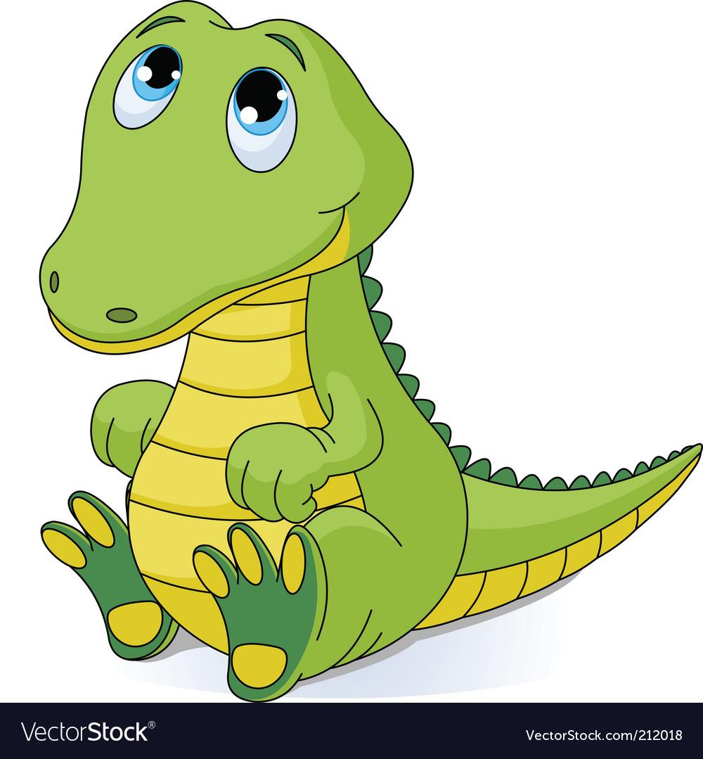 Baby crocodile vector