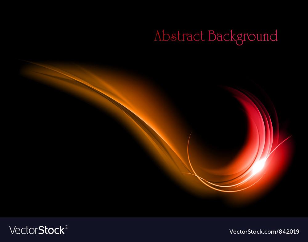 Abstract shape smoke on black vector