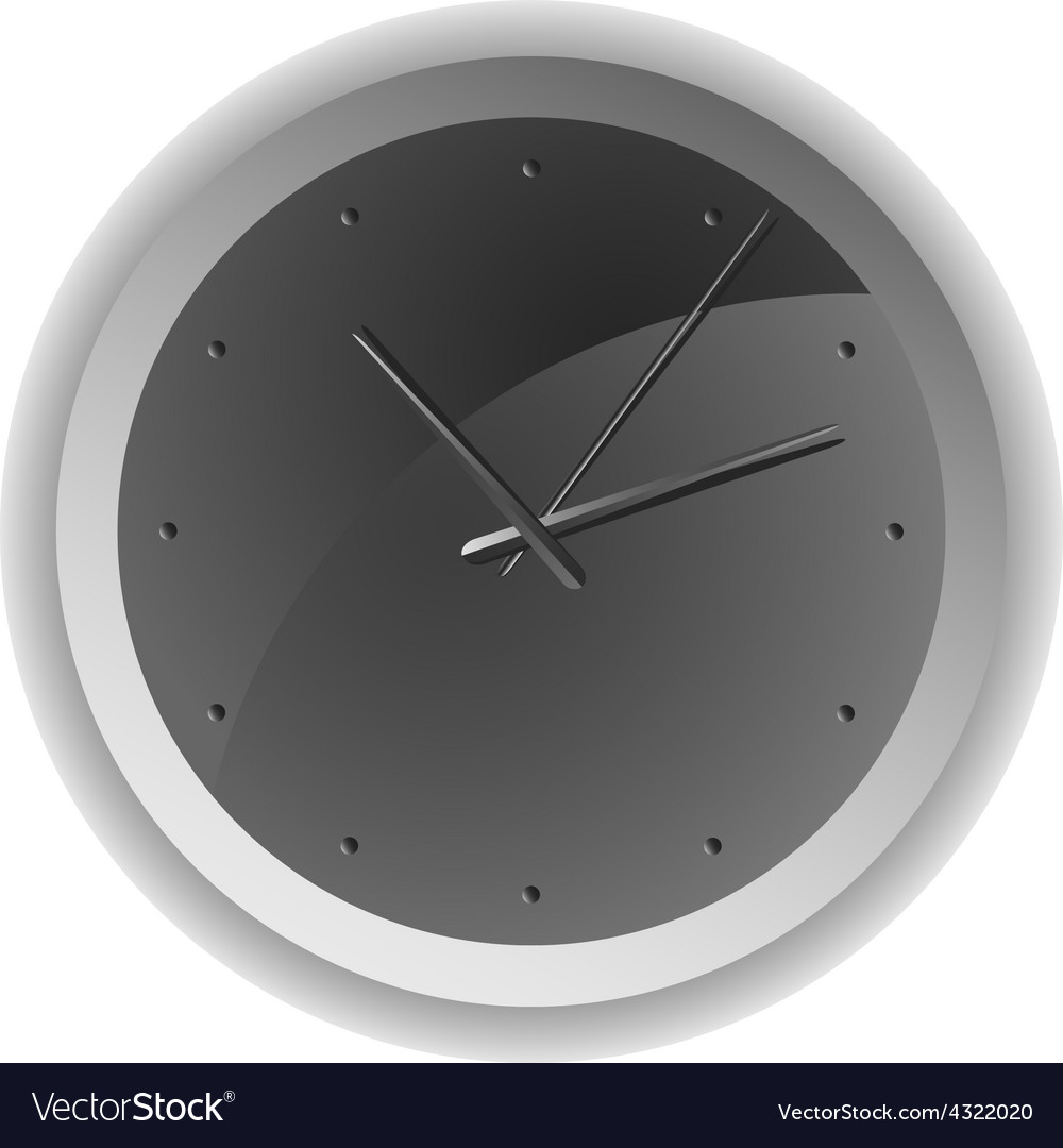 Analog clock minimum design vector