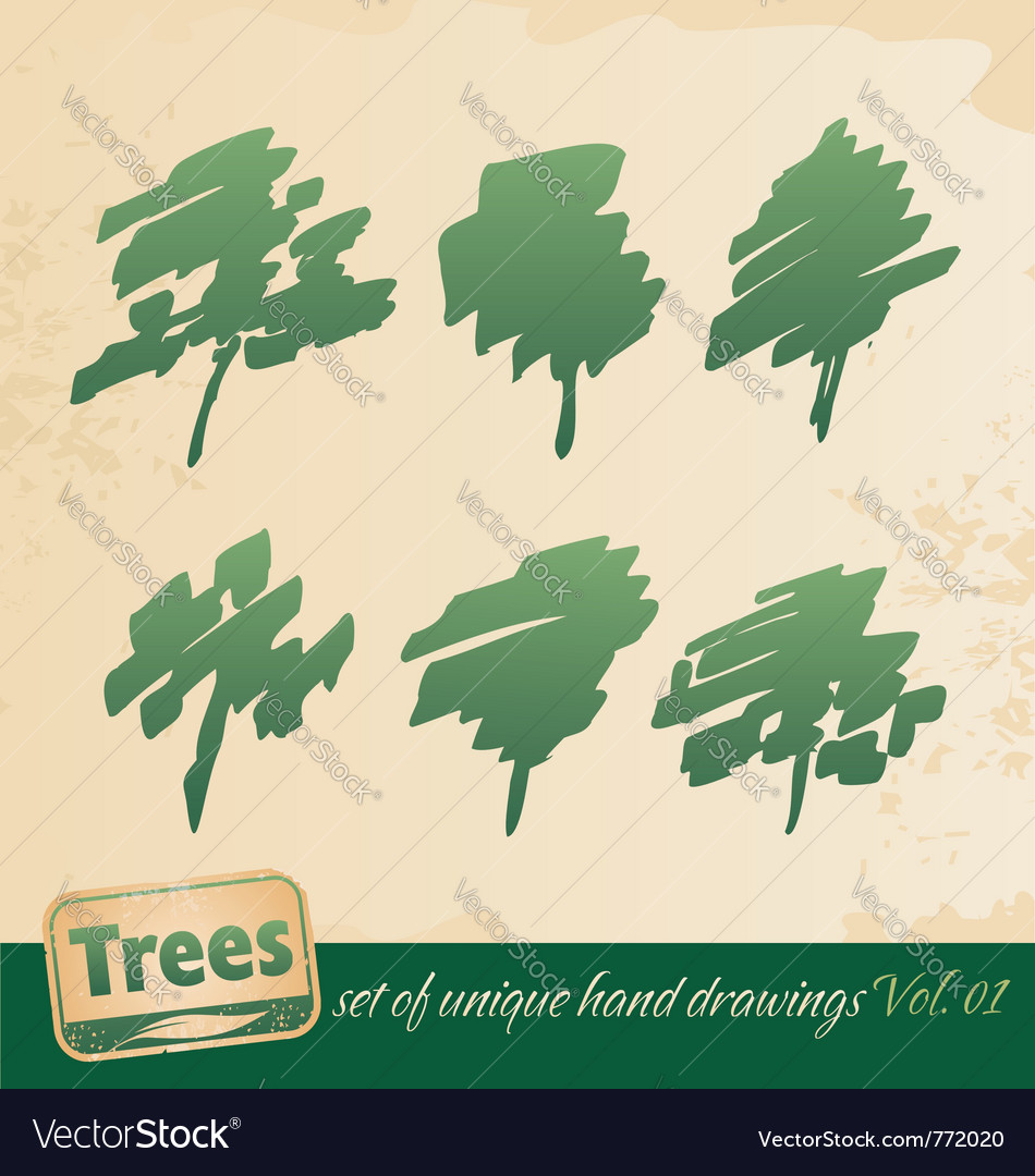 Trees vector